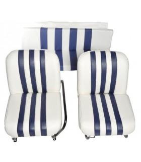 Banquette ARR bi-ton Blanc / Bleu