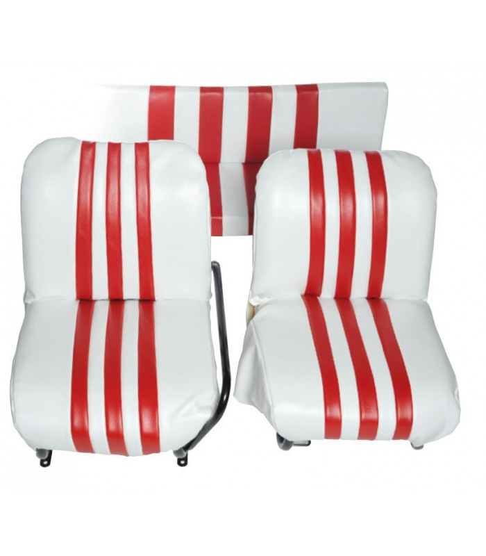 Garniture de siège Droit ou Gauche Blanc / Rouge
