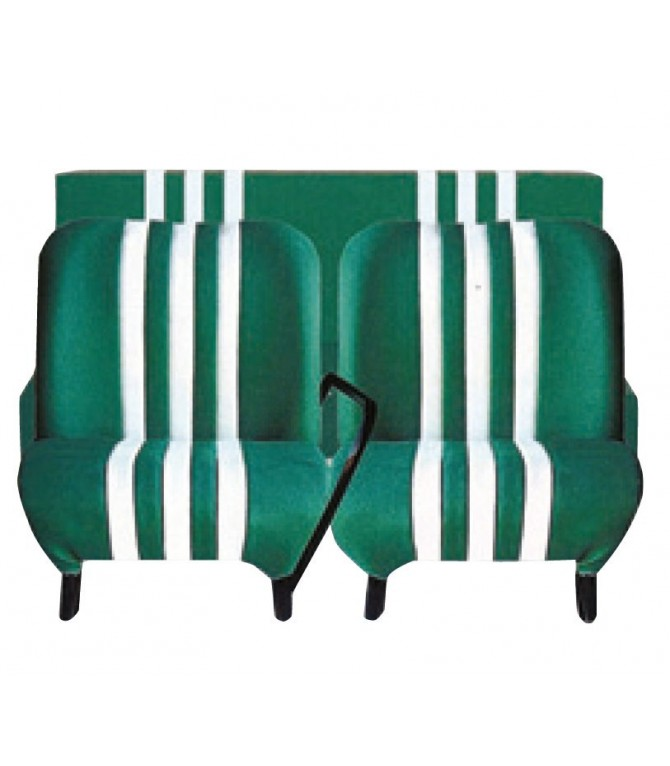 Sièges et banquette neuf complet bi-ton Vert / Blanc