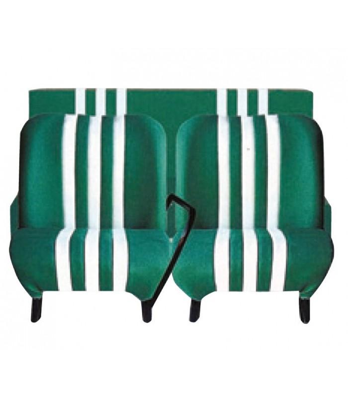 Banquette ARR bi-ton Vert / Blanc