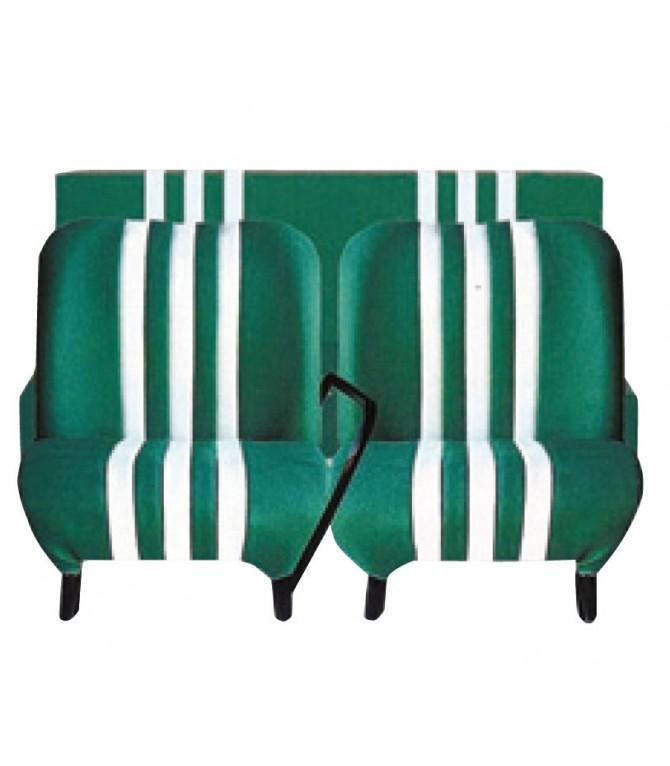 Garniture de banquette ARR Vert / Blanc