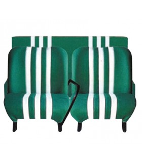 Lot de 2 garnitures de sièges AV + banquette ARR Vert / Blanc