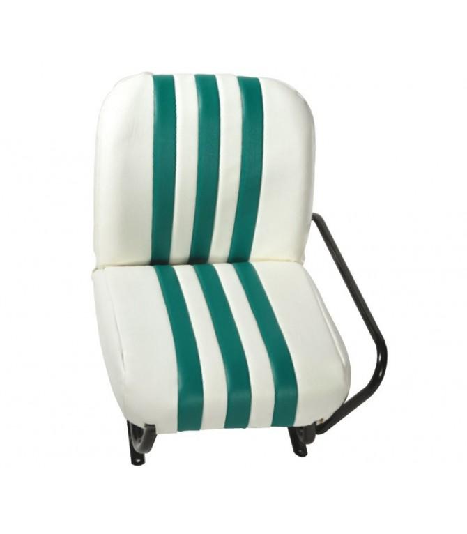 Lot de 2 garnitures de sièges AV + banquette ARR Blanc / Vert