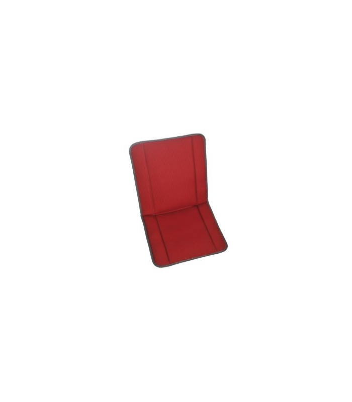 Garniture siège et banquette bayadère rouge