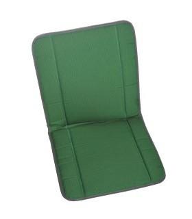 Garniture siège et banquette bayadère verte