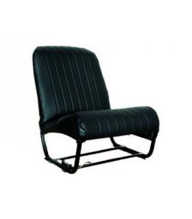 Ensemble de garnitures skaï Noir lisse 2 sièges asymétriques + 1 banquette ARR