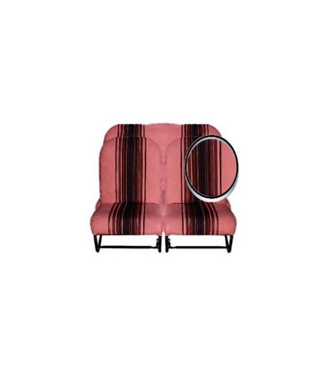 Ensemble de garnitures tissu Marron rayé 2 sièges symétriques + 1 banquette ARR