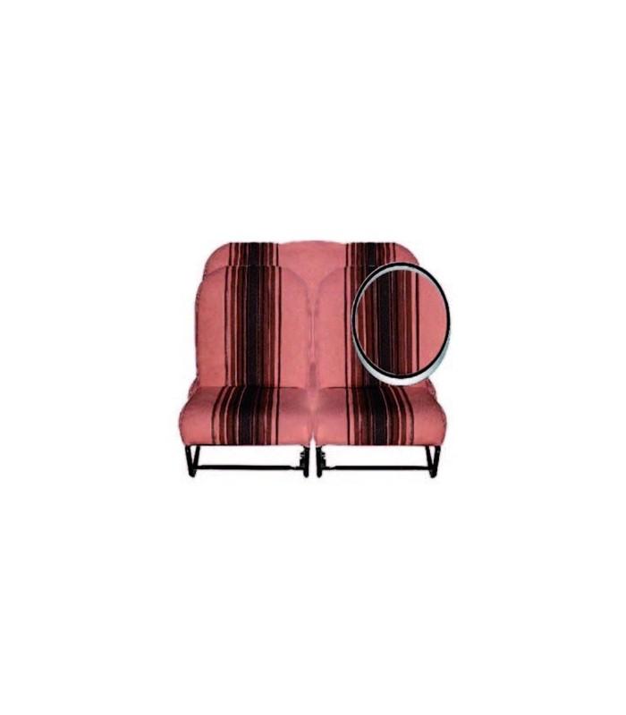Ensemble de garnitures tissu Marron rayé 2 sièges asymétriques + 1 banquette ARR