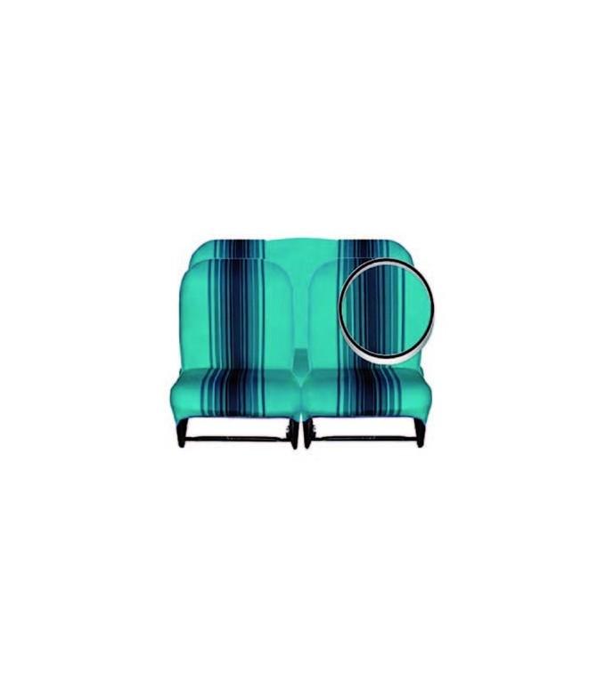 Ensemble de garnitures tissu Bleu rayé 2 sièges asymétriques + 1 banquette ARR