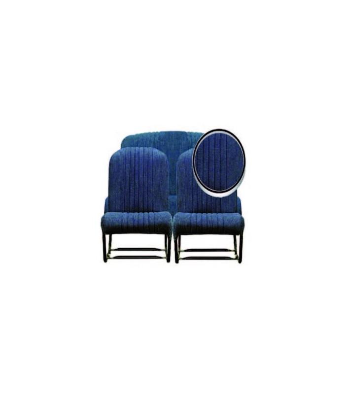 Ensemble de garnitures tissu Jean 2 sièges asymétriques + 1 banquette ARR