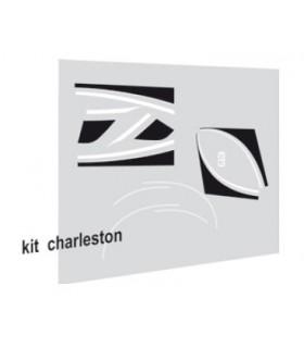 Autocollants Charleston pour 2cv Bordeaux ou Jaune