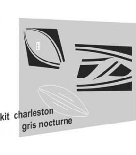 Autocollants Charleston pour 2cv Gris Nocturne