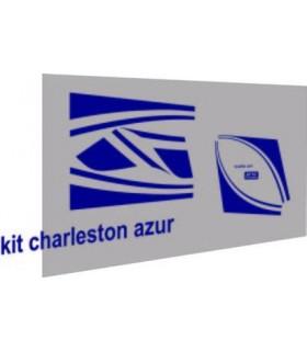 AUTOCOLLANTS 2CV CHARLESTON BLEU AZUR