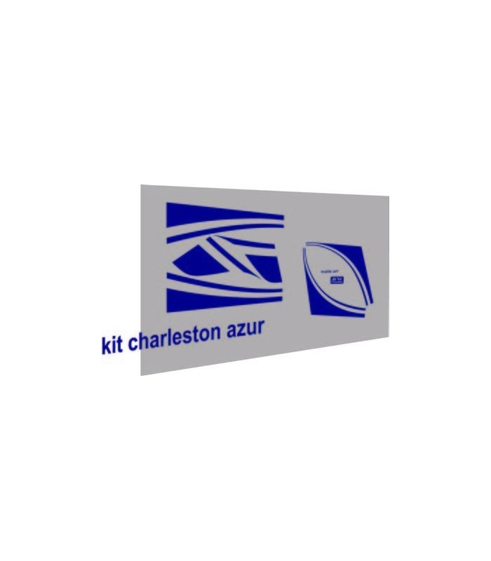 Autocollants Charleston pour 2cv Bleu Azur