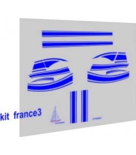 AUTOCOLLANTS 2CV FRANCE 3