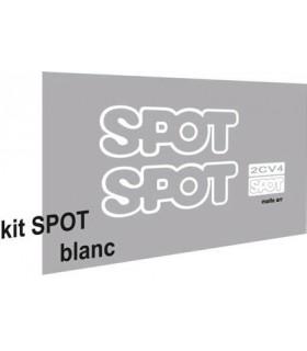 AUTOCOLLANTS 2CV SPOT BLANC BRILLANT