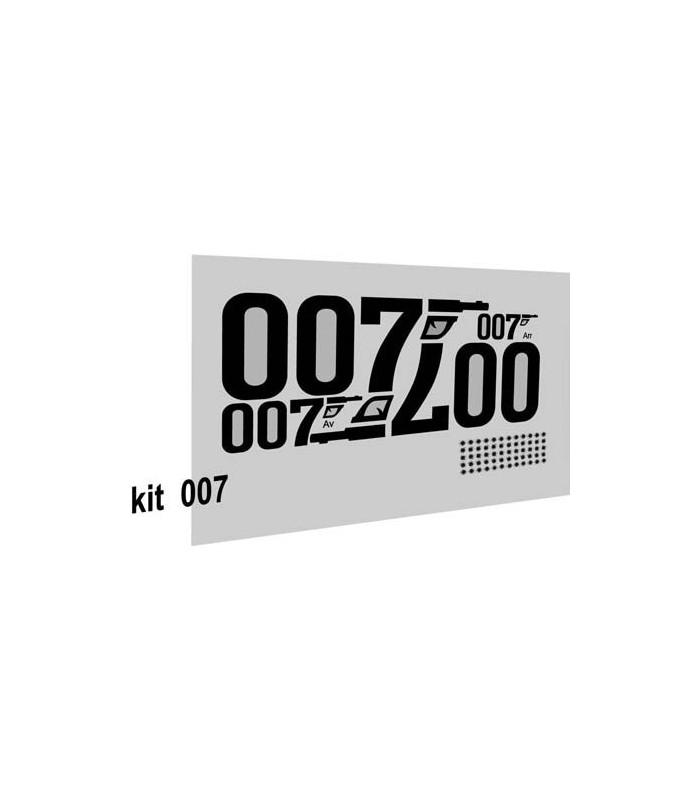 Autocollants 007