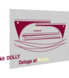 AUTOCOLLANTS 2CV DOLLY DELAGE & RIALTO