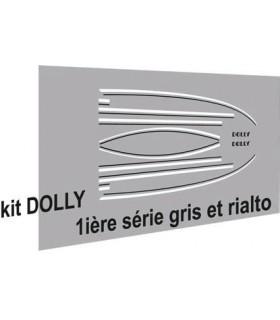 Autocollants Dolly 1ère série Grise et Rialto