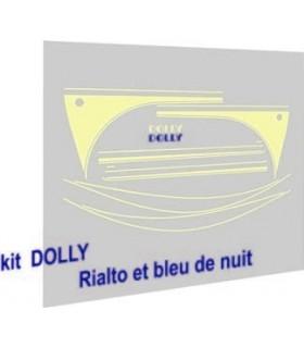 AUTOCOLLANTS 2CV DOLLY RIALTO & BLEU DE NUIT