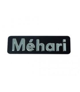 Monogramme inox en relief Méhari