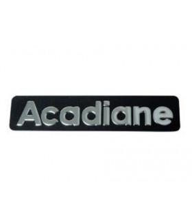 Monogramme inox en relief Acadiane
