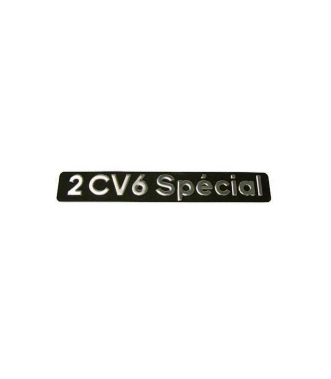 Monogramme inox en relief 2cv6 Spécial