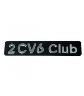 Monogramme inox en relief 2cv6 Club