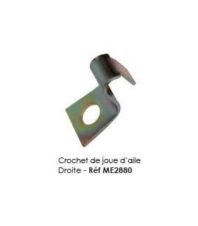 CROCHET DE JOUE D'AILE POUR 2CV
