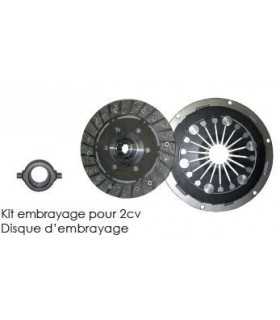 Kit embrayage pour 2cv 10 cannelures centrifuge