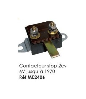 Contacteur stop 2CV 6V jusqu'à 1970
