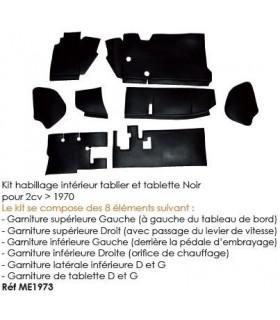 Kit habillage interieur et tablette noir pour 2cv superieur 1970