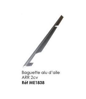 Baguette alu d'aile arrière 2cv
