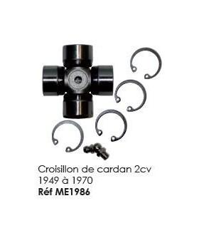 CROISILLON DE CARDAN 2CV DE1949 A 1970