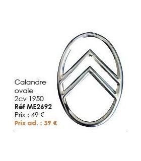 Calandre ovale 2cv 1950