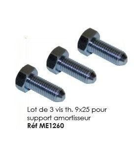 VIS TH 9X25 X3 POUR SUPPORT AMORT. POUR 2CV MEHARI OU DERIVES