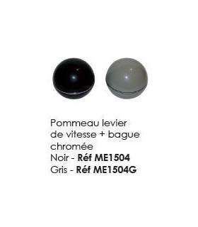 Pommeau levier de vitesse + Bague chromée GRIS
