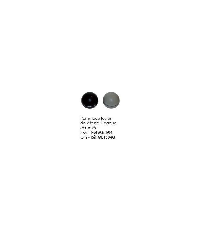 Pommeau levier de vitesse + Bague chromée noir