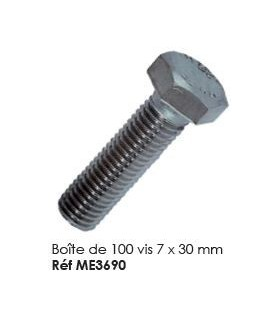 Boite de 100 vis 7 x 30 mm