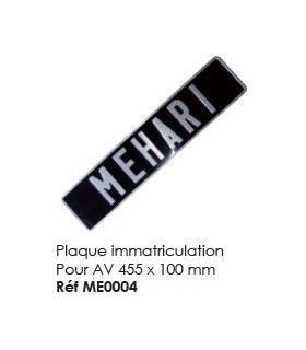 Plaque immatriculation pour avant 455 x 100 mm
