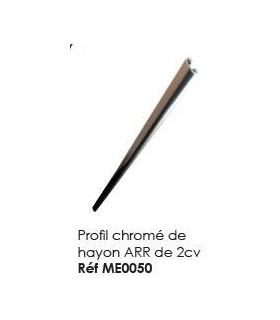 Profil chrome de hayon arrière de 2cv