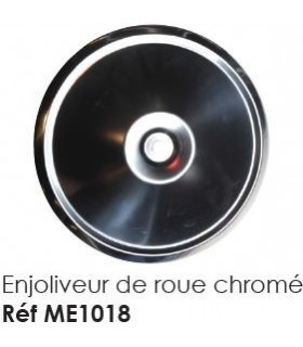 ENJOLIVEUR DE ROUE CHROME