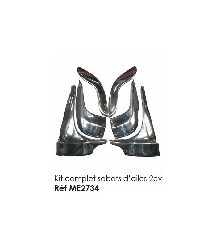 Kit complet sabots d'ailes 2cv