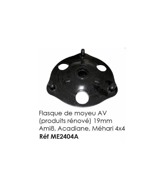 Flasque de moyeu AV (produits rénové) 19mm 2cv, Dyane, Méhari