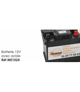 Batterie 12V avec acide