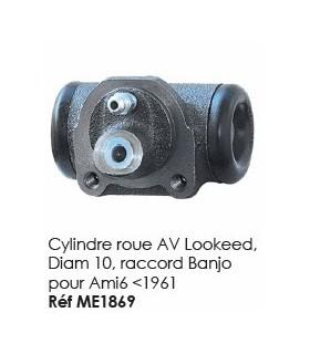 Cylindre roue AV lookeed, diam 10, raccord banjo pour ami 6