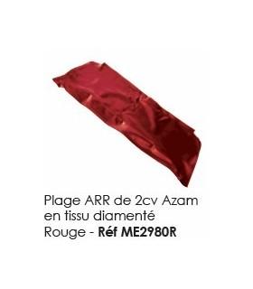 PLAGE ARRIERE 2CV TISSU DIAMANTE ROUGE