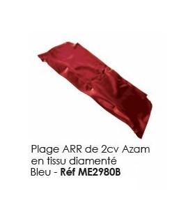 PLAGE ARRIERE 2CV TISSU DIAMANTE BLEU