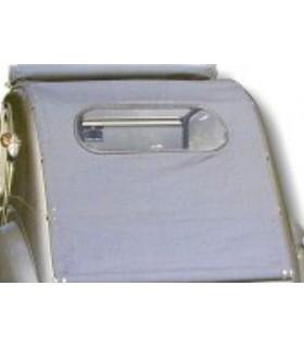 Capote 2cv longue gris coton grande vitre