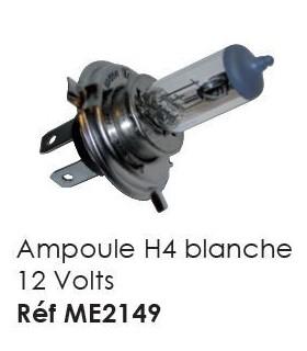 AMPOULE H4 BLANC 12V